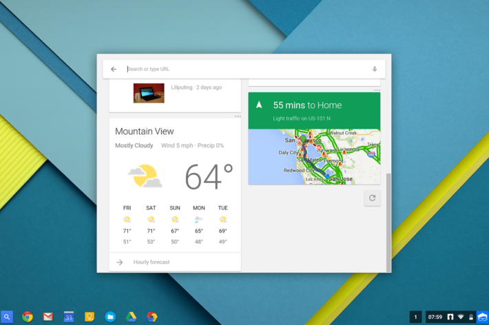 Google Now Card Support En Route To Chromebook Beta Channel Users