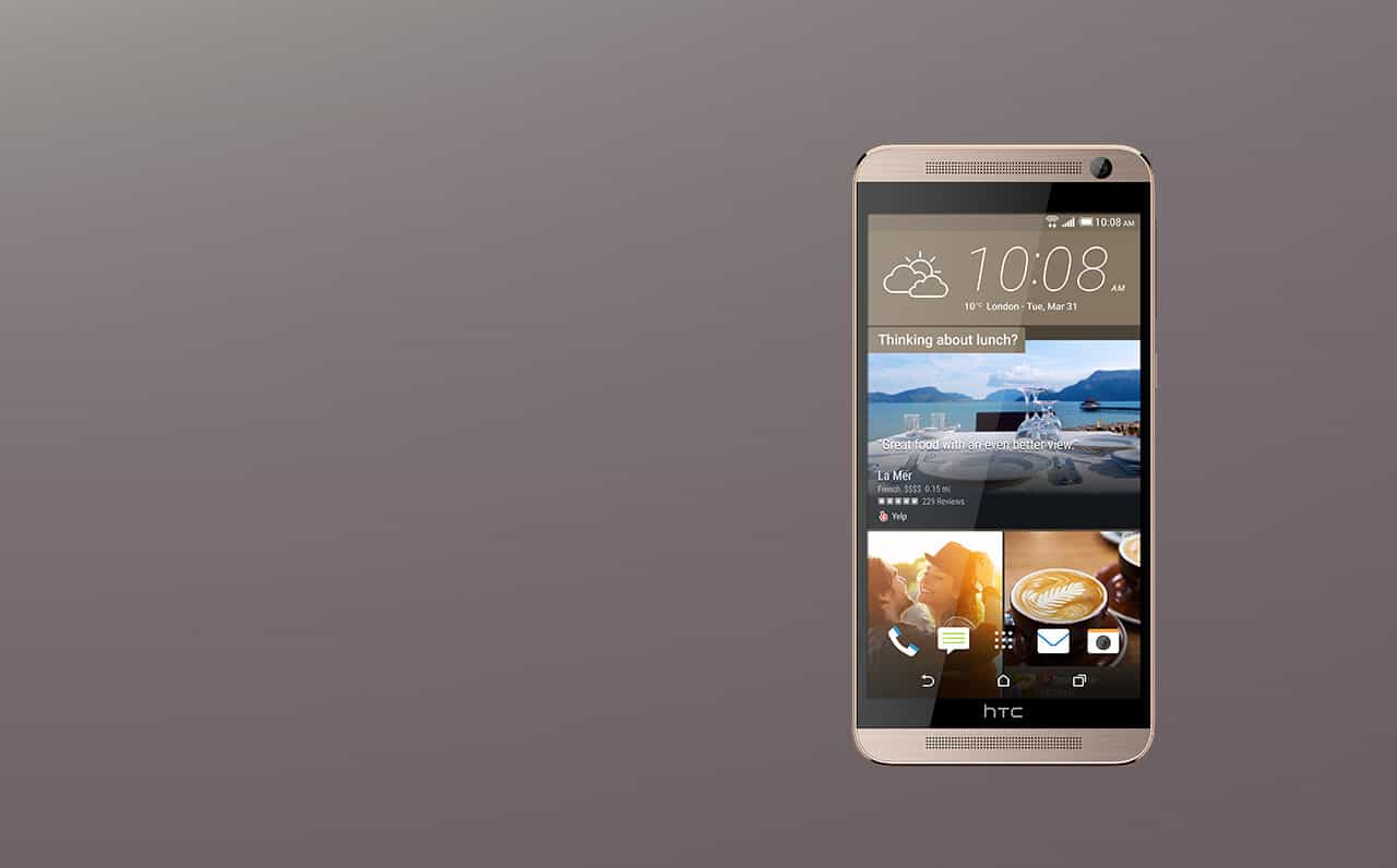 HTC One E9 Gold Blinkfeed Front Full