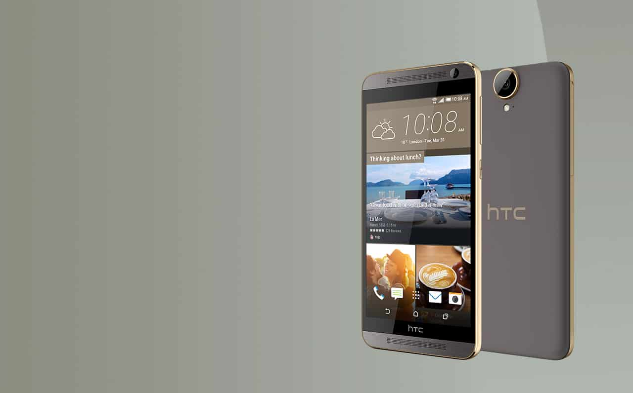 HTC One E9 Sepia Rose Gold Angled