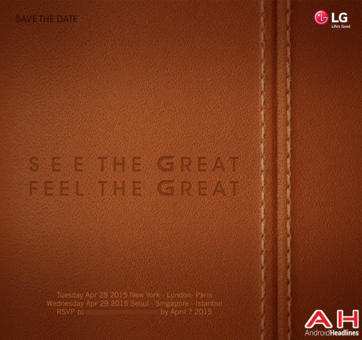 LG Outs Their Next Flagship Event, Will Unveil The LG G4 On April 28th