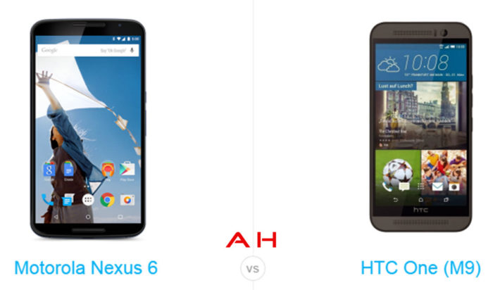 Phone Comparisons: Motorola Nexus 6 vs HTC One M9
