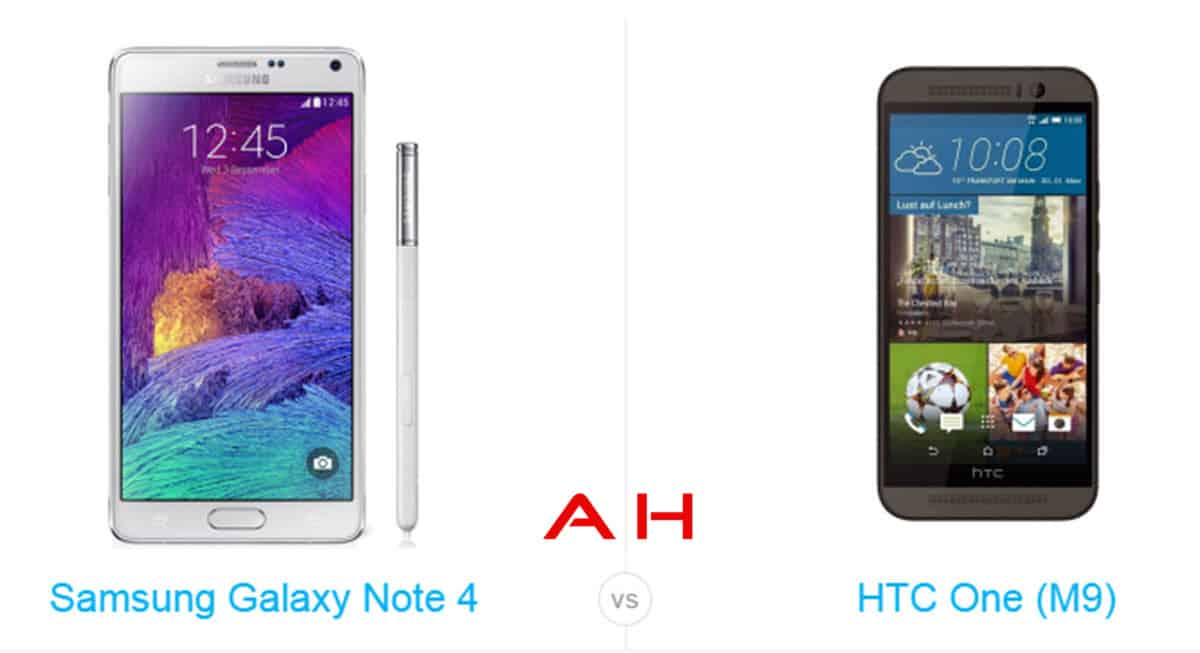 One M9 vs Note 4 cam AH