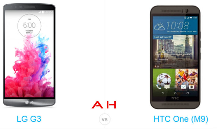 Phone Comparisons: LG G3 vs HTC One M9