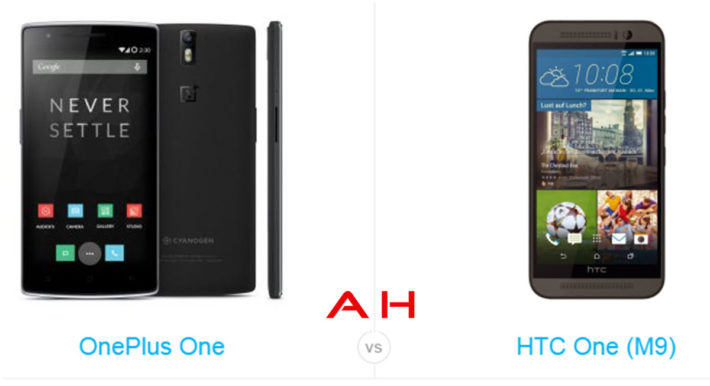 Phone Comparisons: OnePlus One vs HTC One M9