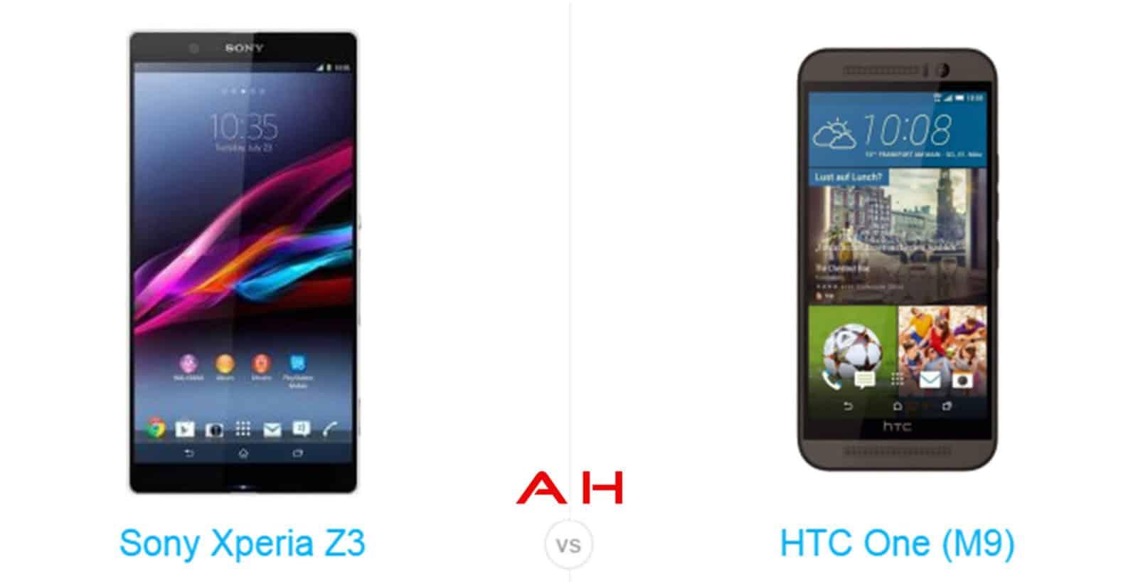 One M9 vs Xperia Z3 cam AH