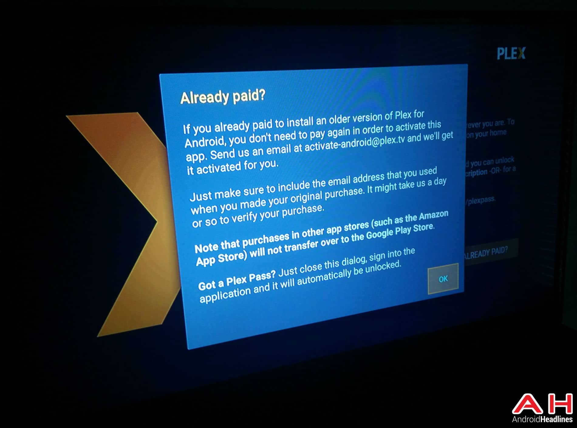 Plex Android TV AH