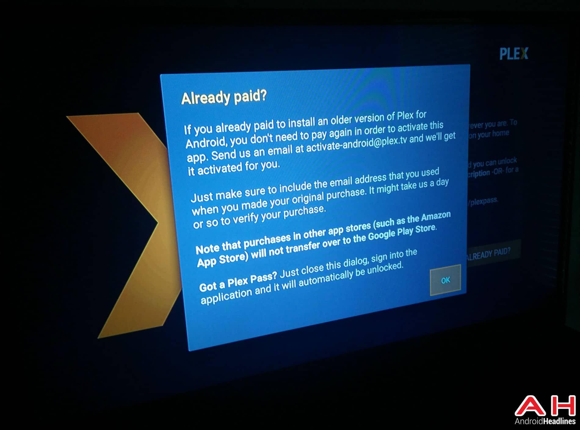 Plex Android TV AH
