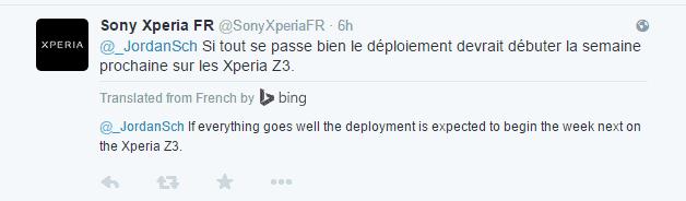 Sony Xperia France