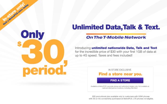MetroPCS Intro's new $30 PrePaid Plan, Undercuts Everyone
