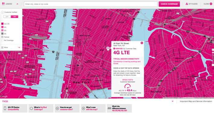 T-Mobile Has a New Coverage Map, it Updates Every Two Weeks