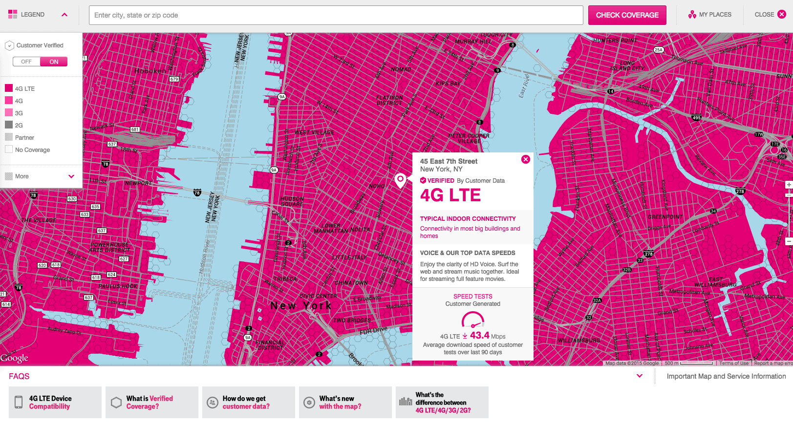 T-Mobile Has a New Coverage Map, it Updates Every Two Weeks ...