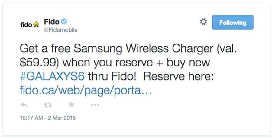 Tweet for Galaxy S6