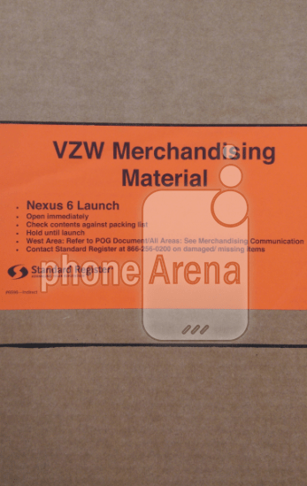 Verizon Nexus 6 launch material