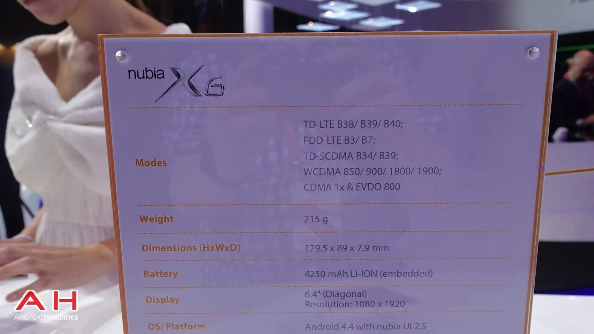 ZTE Nubia X6 AH 09