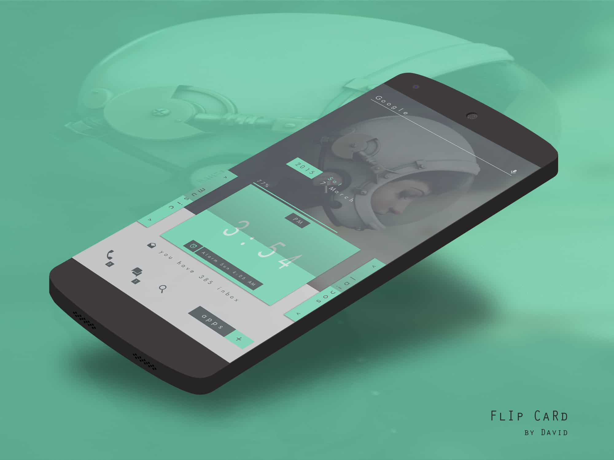 Elegant Top Android Homescreen March 13th Edition Flip Card