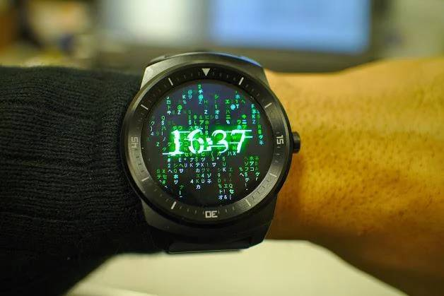 matrix watch face