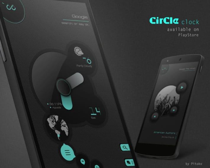 Top Android Homescreen April 19th: Circle Clock