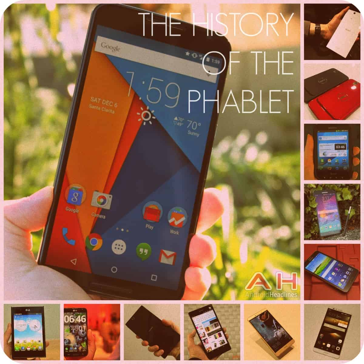 AH History of Phablets