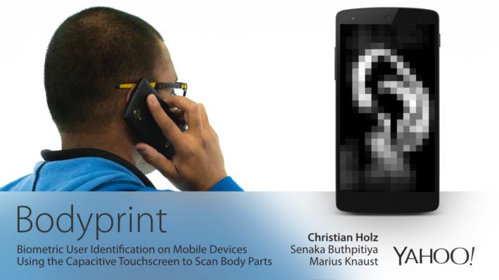 Bodyprint Is A New Biometric Identification Technology For Mobile Devices