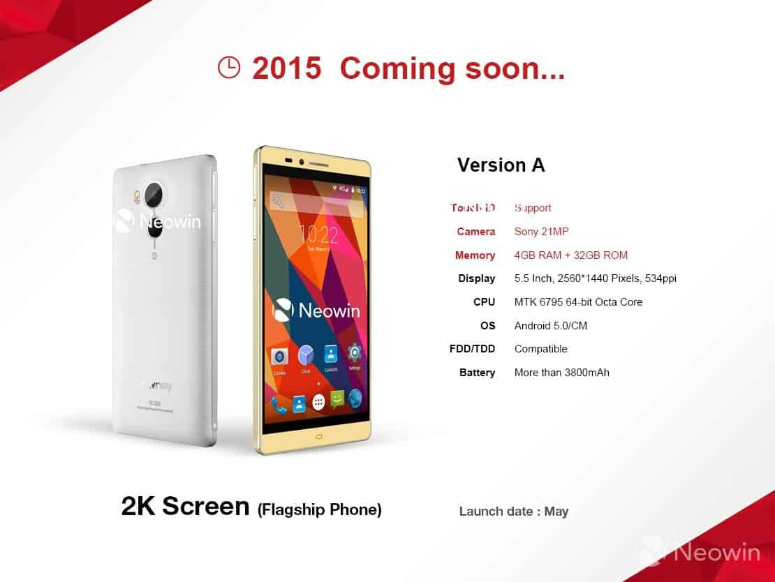 Elephones upcoming 2015 flagship version A