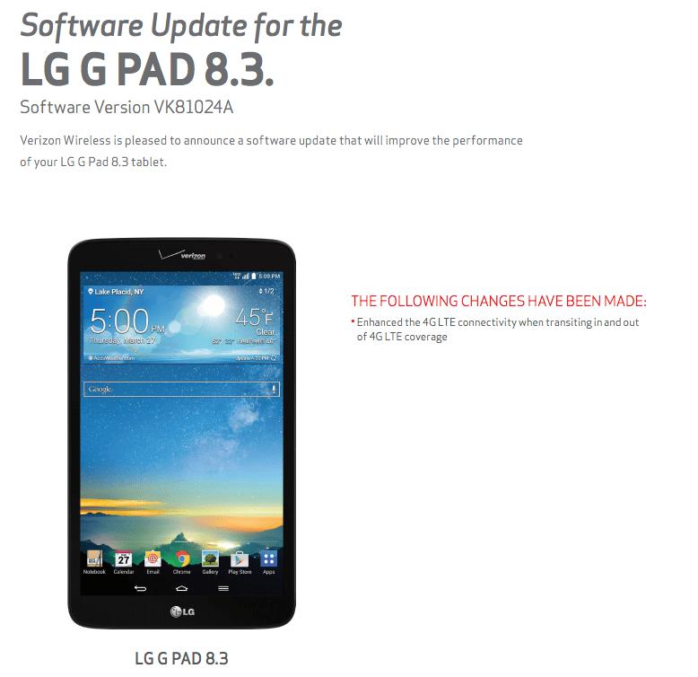 G Pad 83 Update