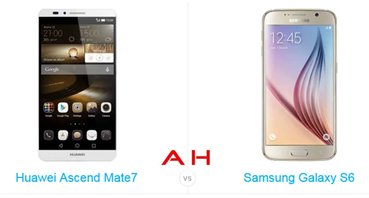 Galaxy S6 vs Ascend Mate 7 cam AH