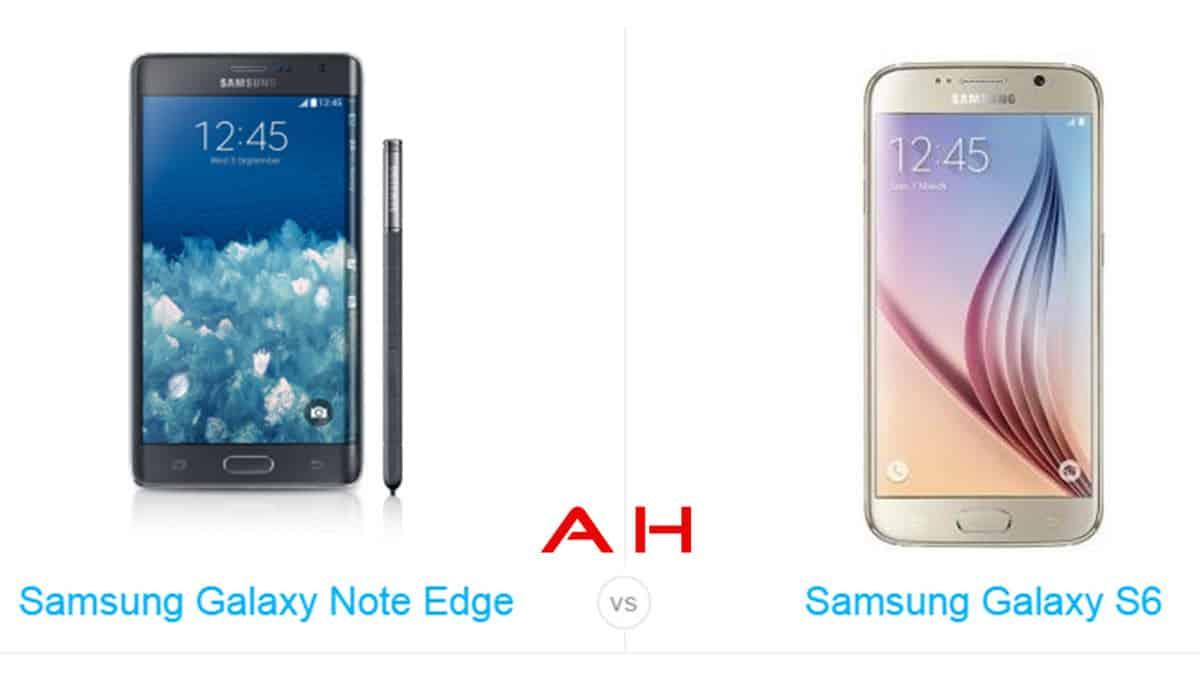 Galaxy S6 vs Galaxy Note Edge cam AH