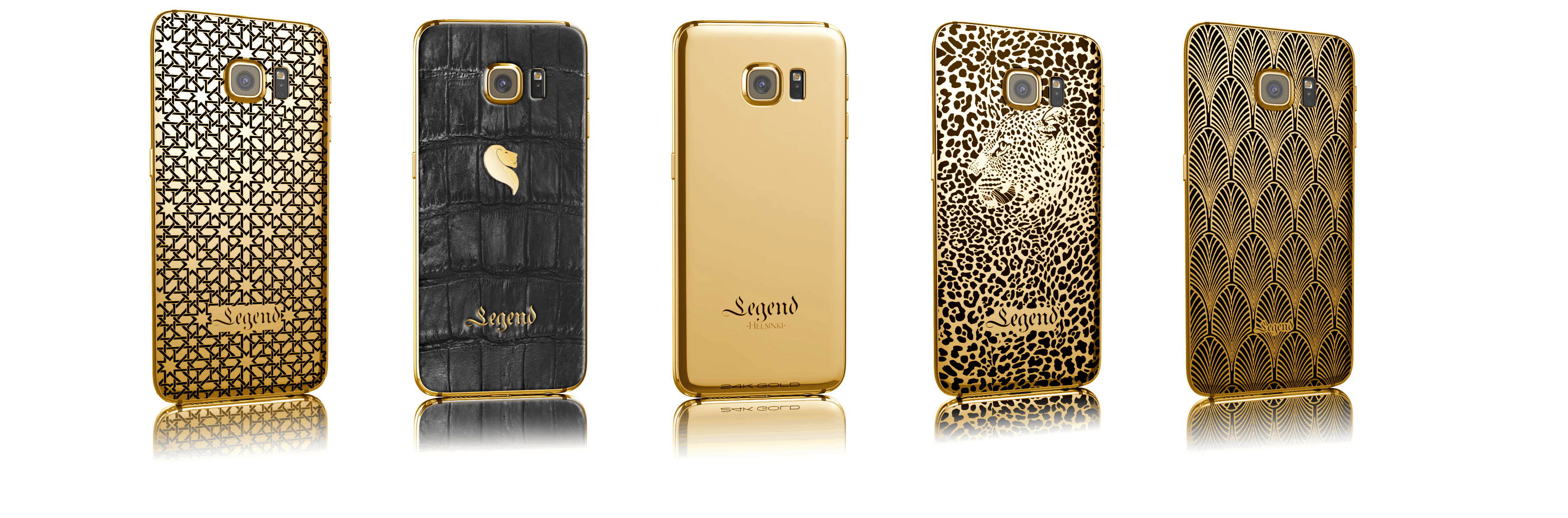 Galaxy s6 24k gold plated lineup by legend helsinki1