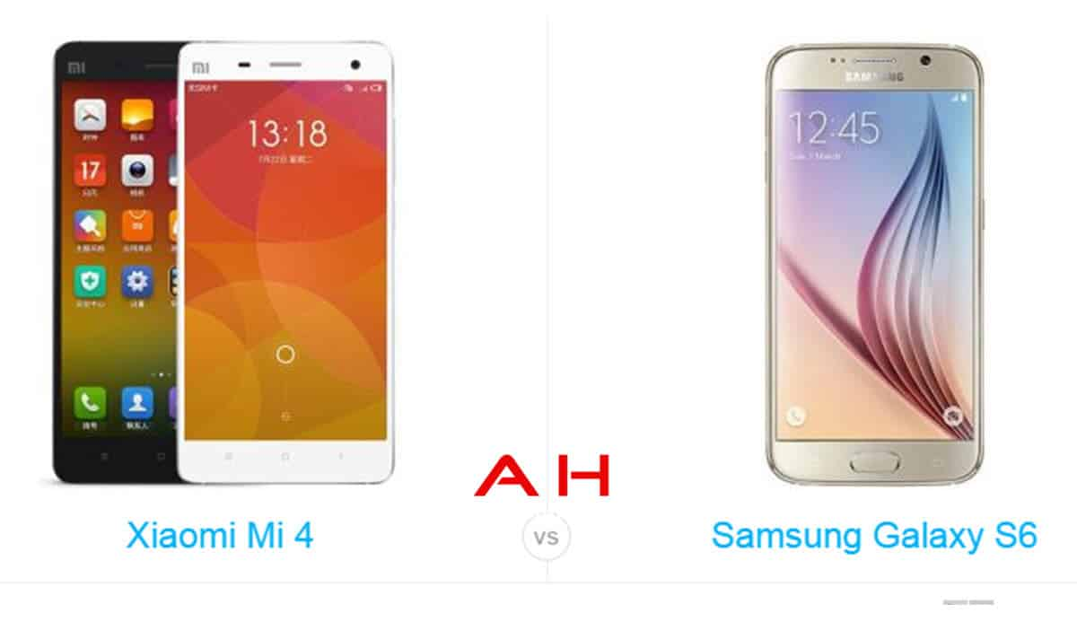 Galaxy s6 vs Xiaomi Mi 4 LTE cam AH