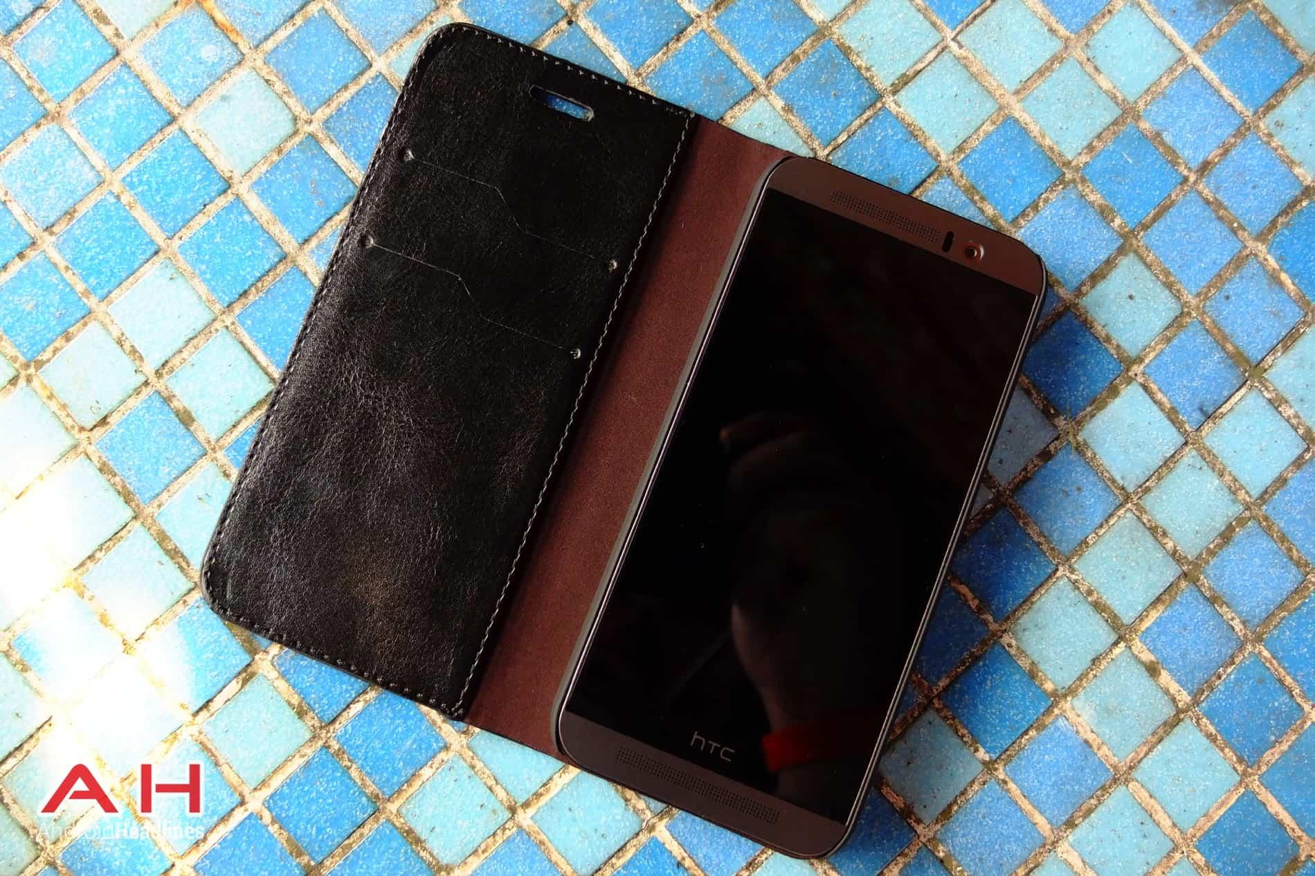 Olixar Leather Flip M9 AH 03