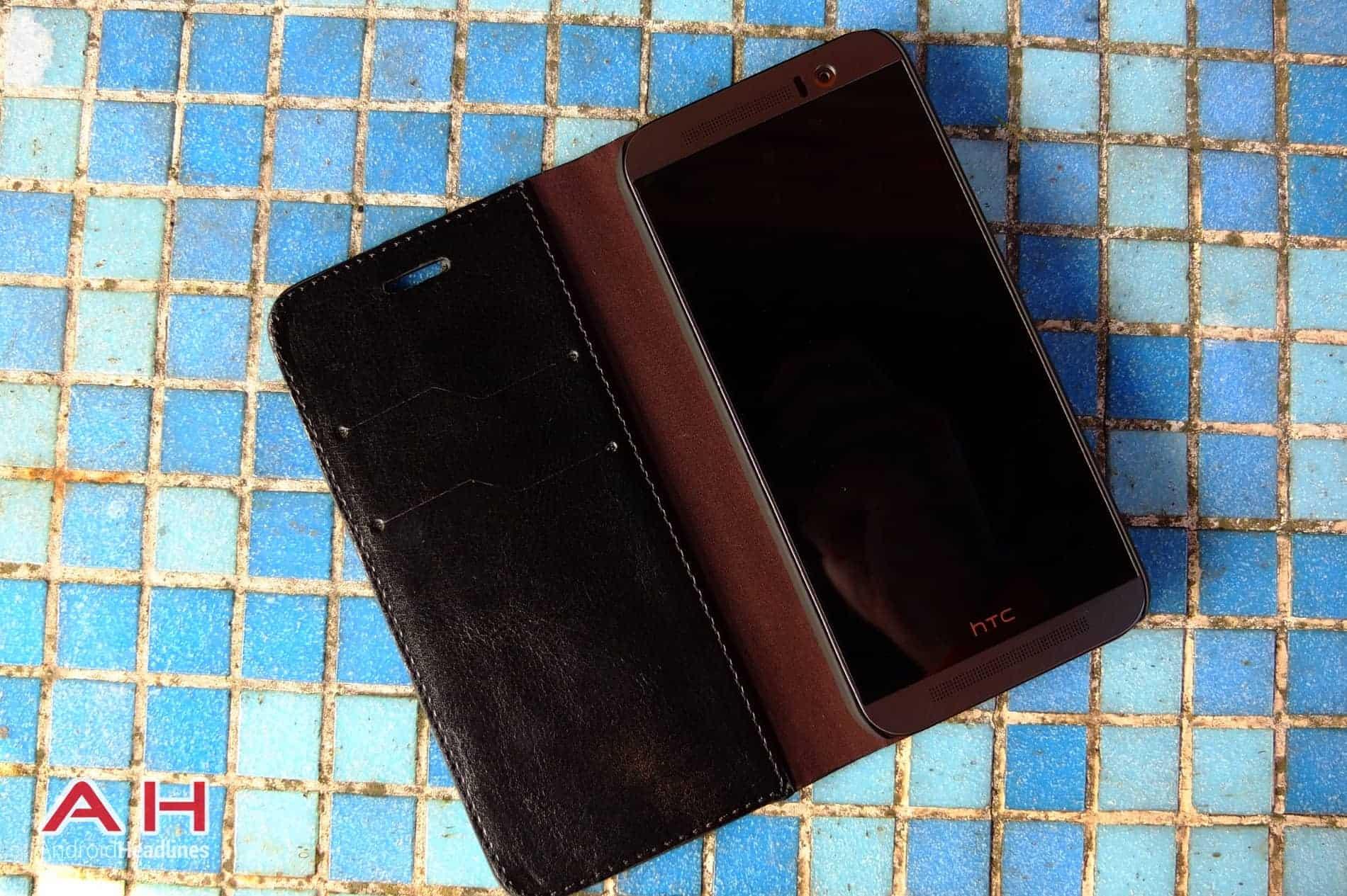 Olixar Leather Flip M9 AH 04
