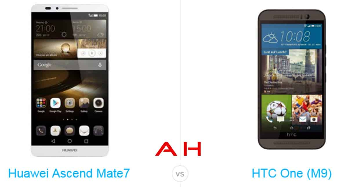 One M9 vs Ascend Mate 7 cam AH