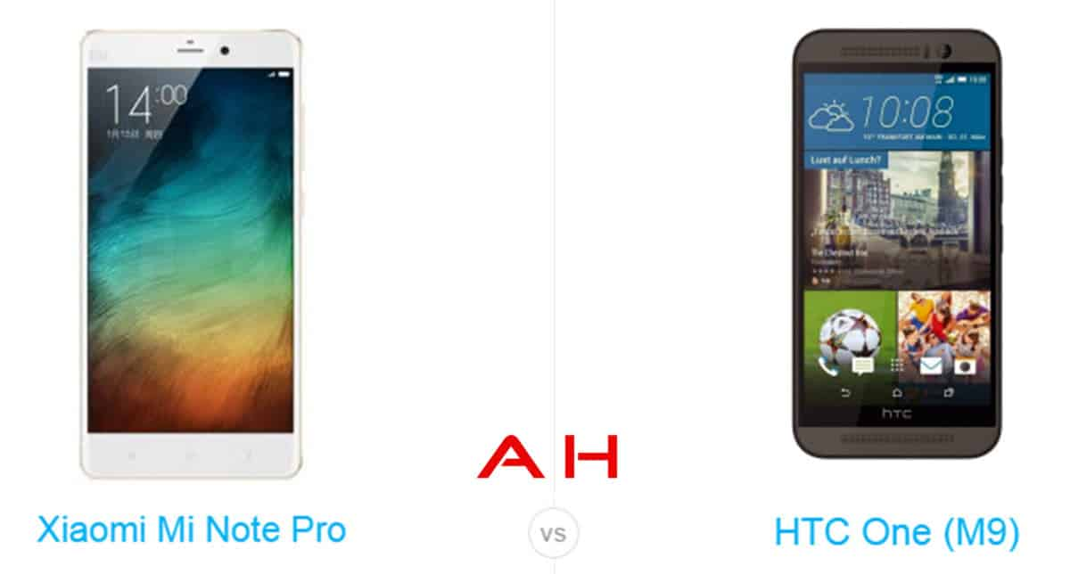 One M9 vs Mi Note Pro cam AH
