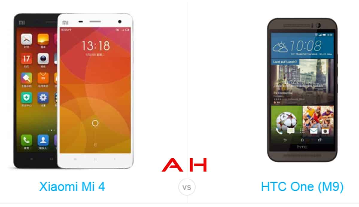 One M9 vs Xiaomi Mi 4 cam AH