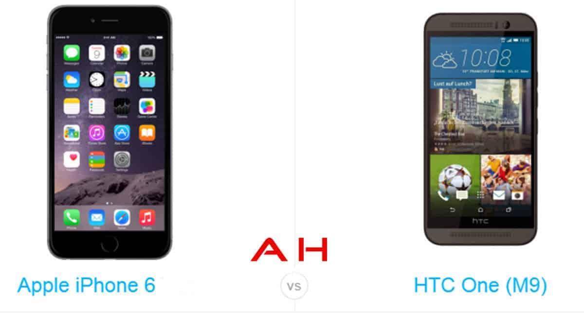 One M9 vs iPhone 6 cam AH
