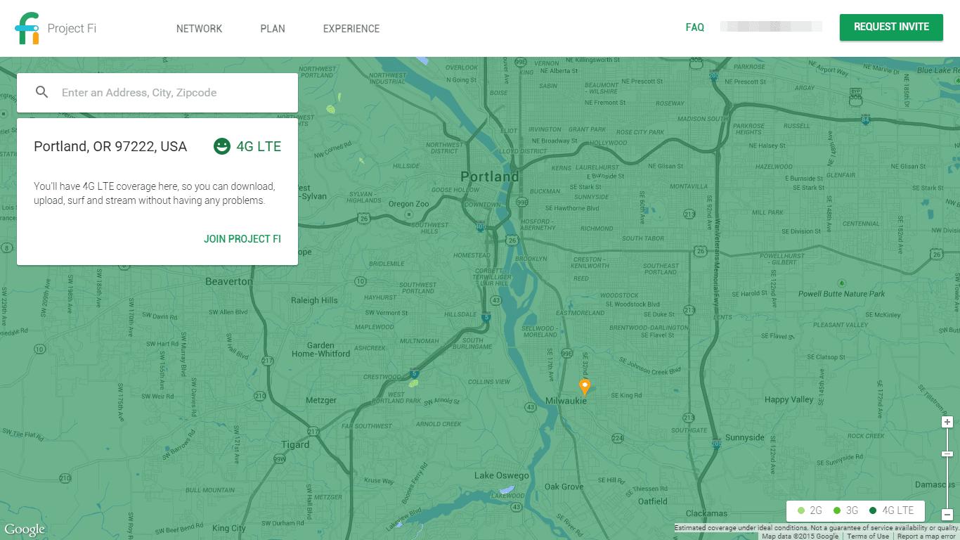 Project Fi Map