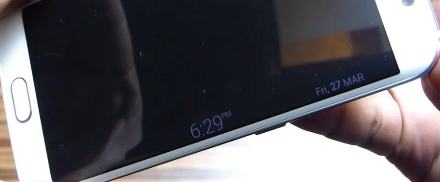 Samsung S6 Edge Clock