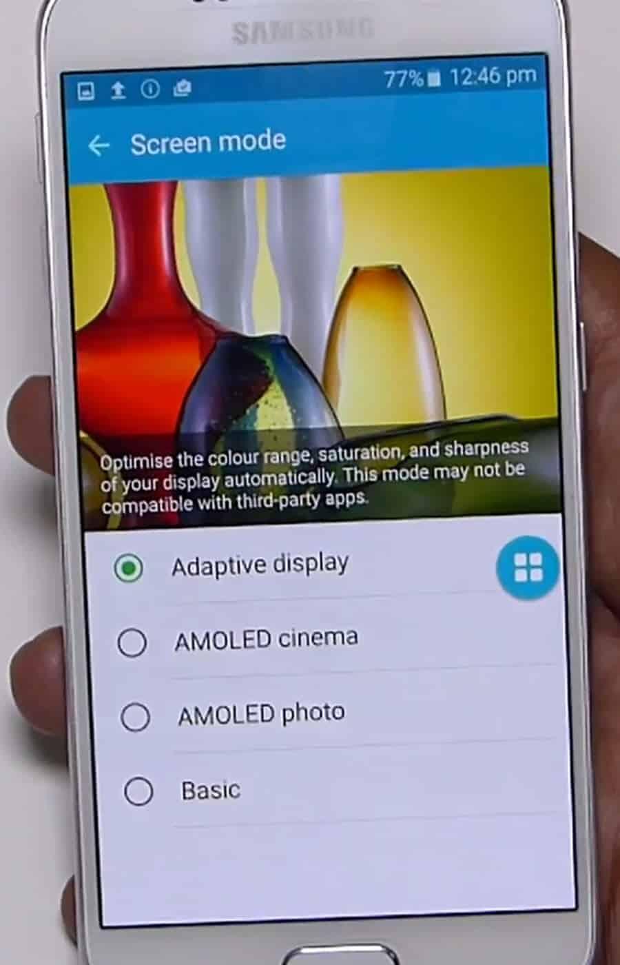 Samsung S6 Screen Mode