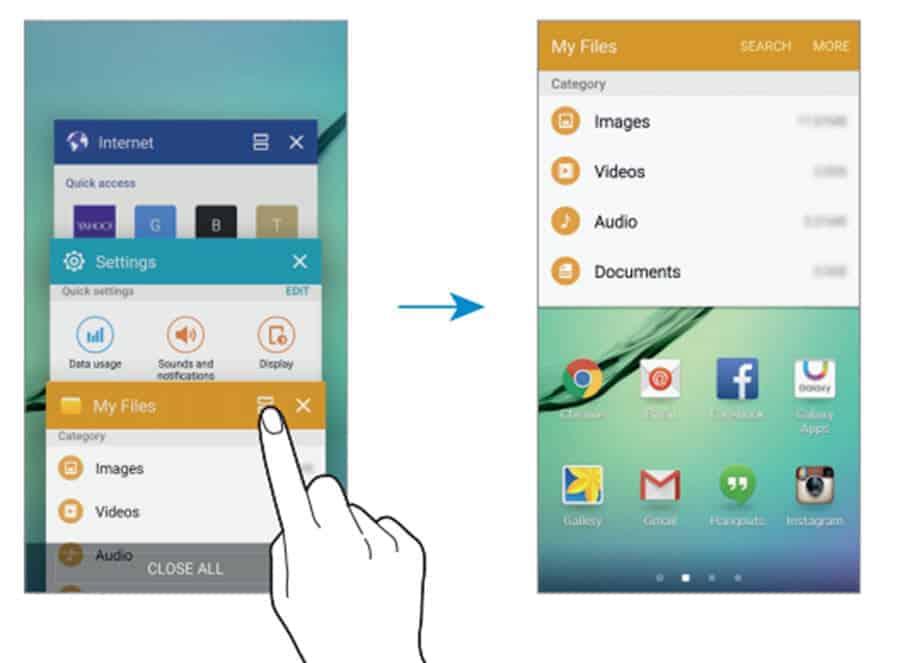 Samsung S6 Split Screen