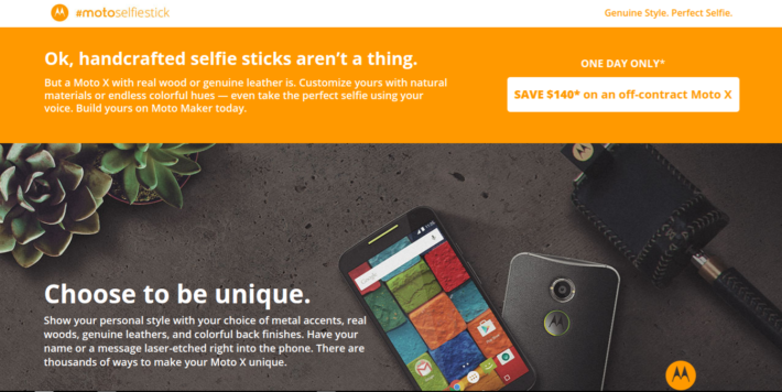 Motorola Offering $140 Saving Off Of The Moto X For Today Only