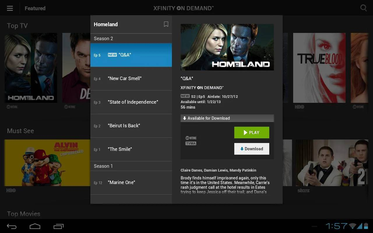 Featured top 10 best android apps for tv shows for Mirror xfinity app to tv