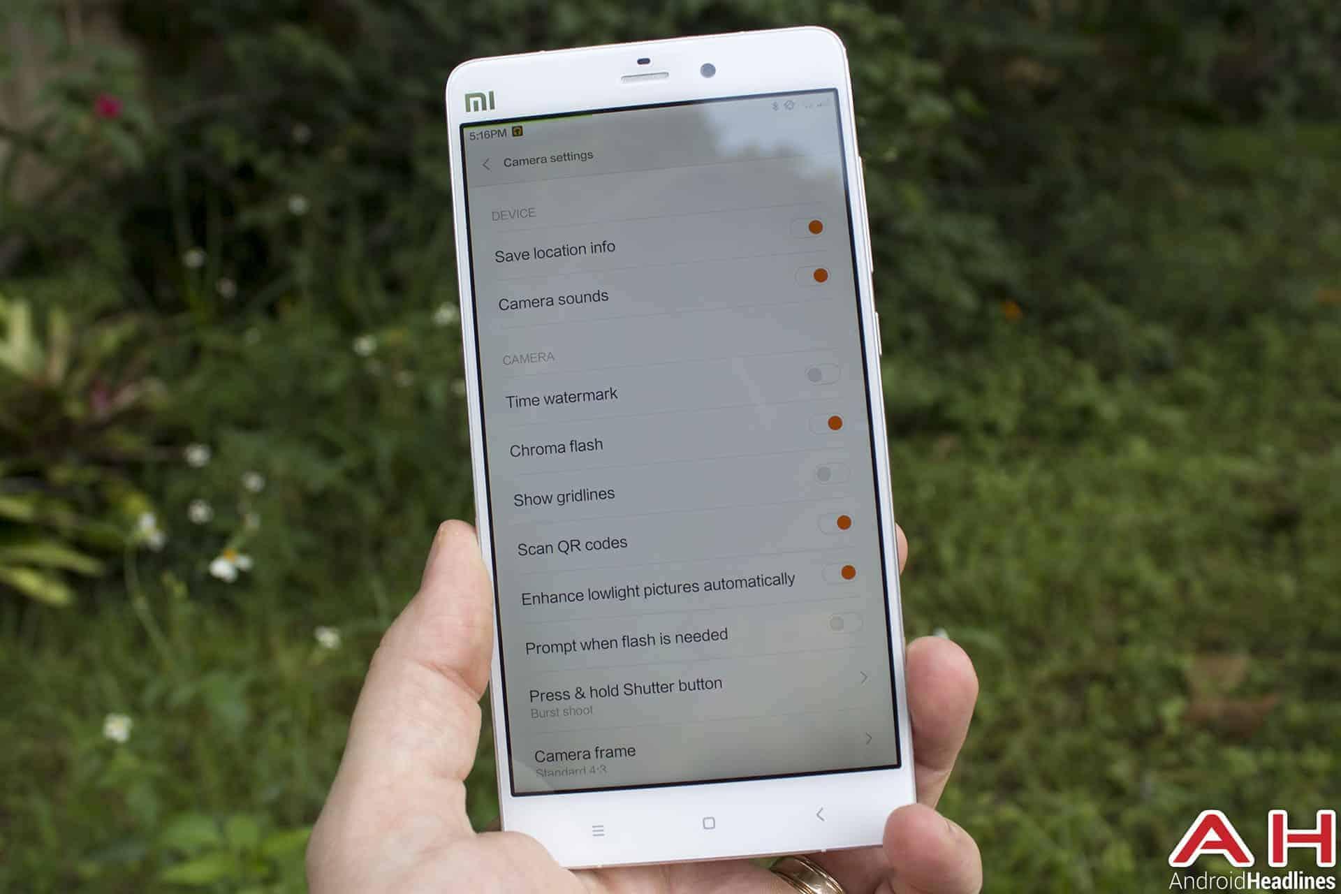 Xiaomi Mi Note Bamboo cam 5