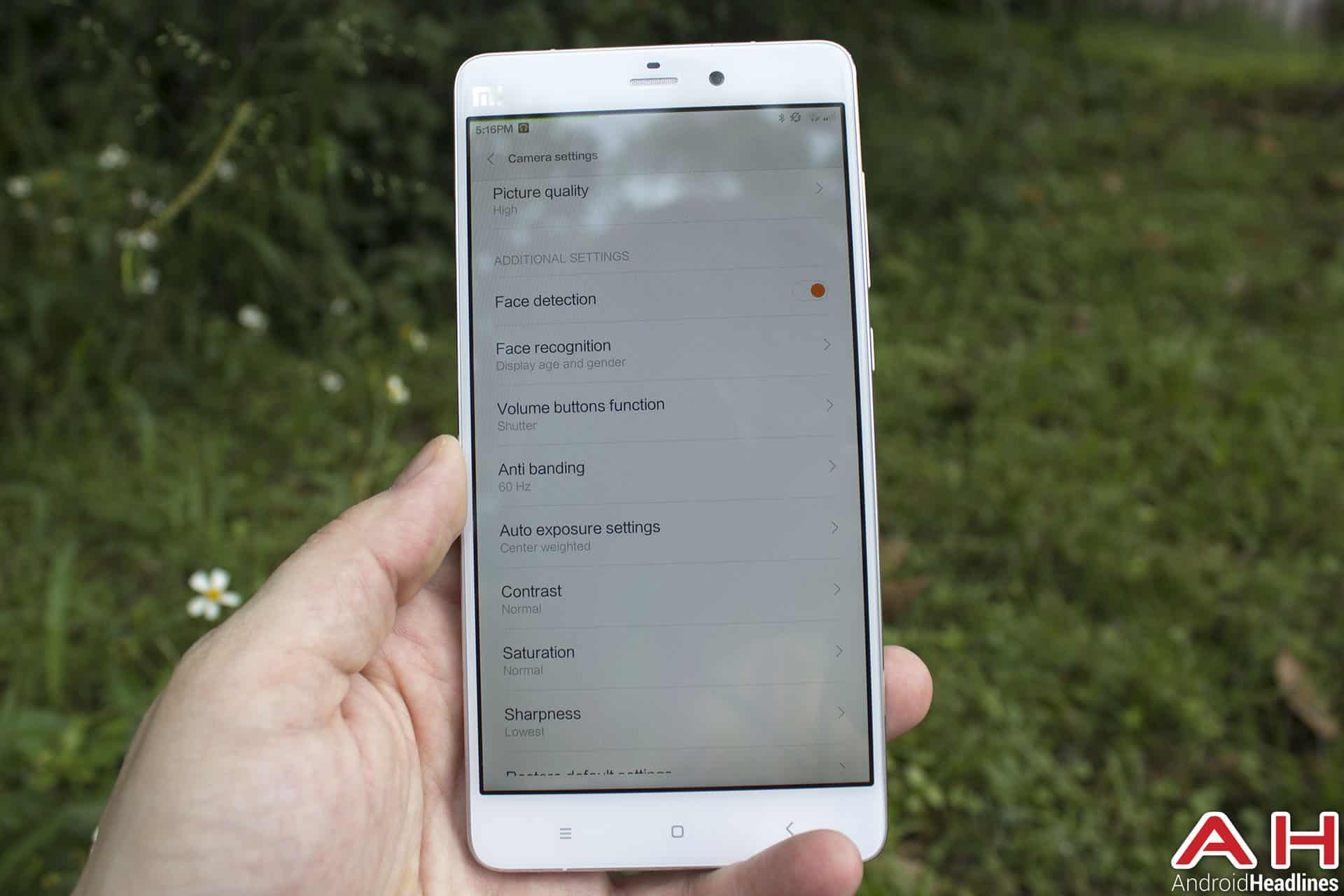 Xiaomi Mi Note Bamboo cam 6