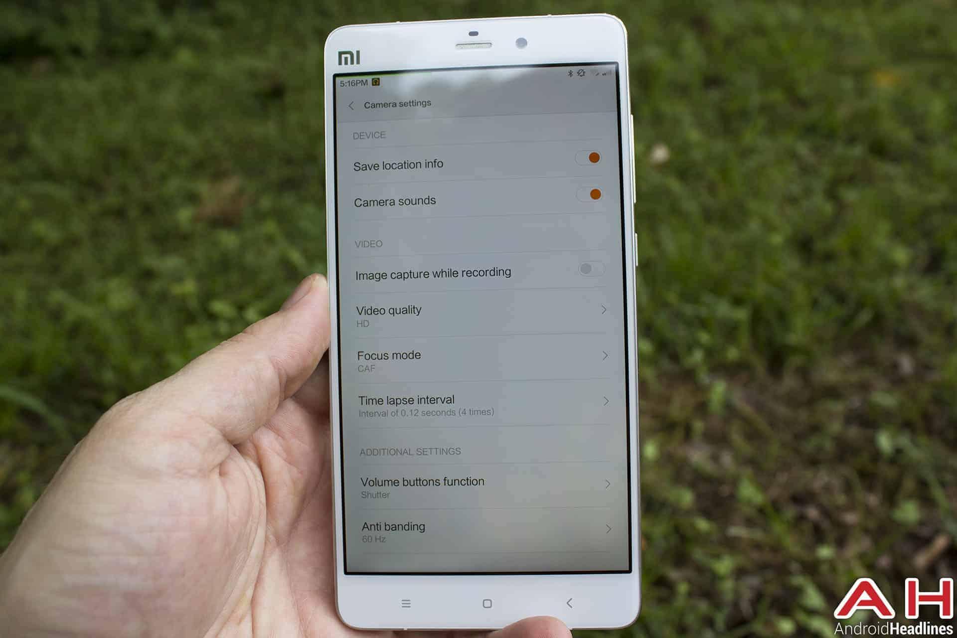 Xiaomi Mi Note Bamboo cam 8