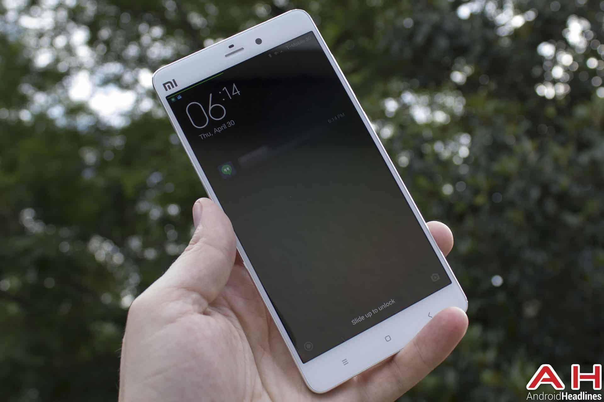 Xiaomi Mi Note Bamboo lockscreen