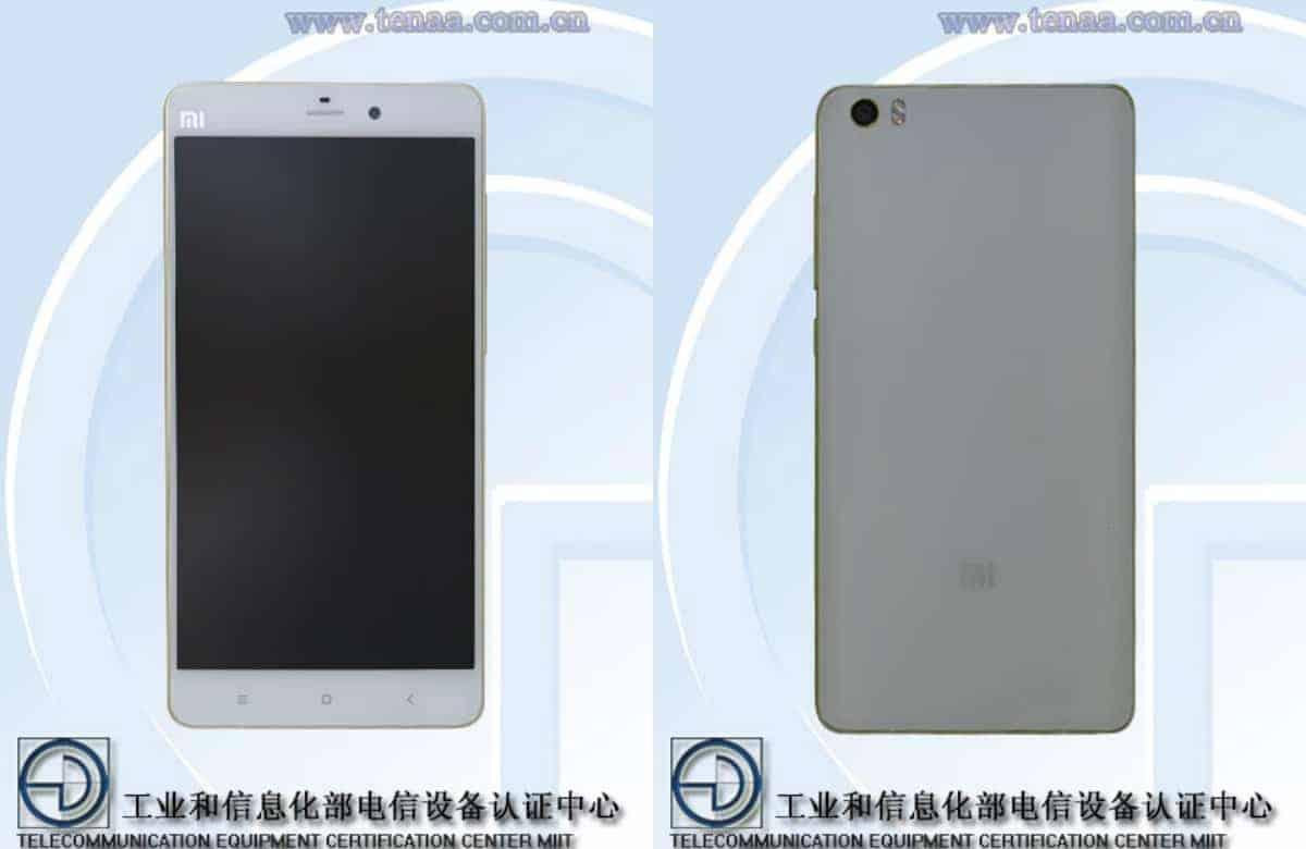 Xiaomi Mi Note Pro TENAA