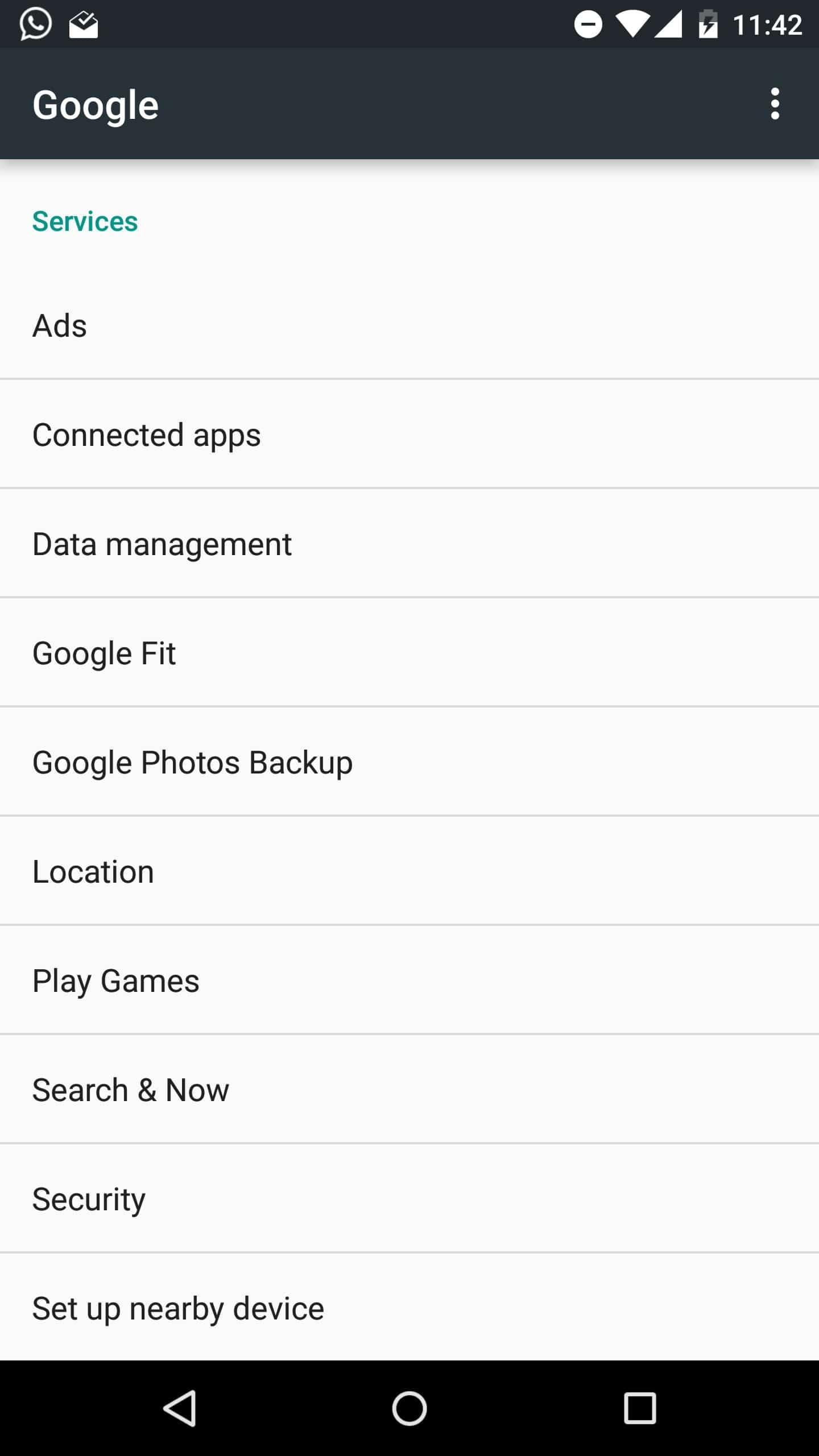 AH Android M GoogleOptions