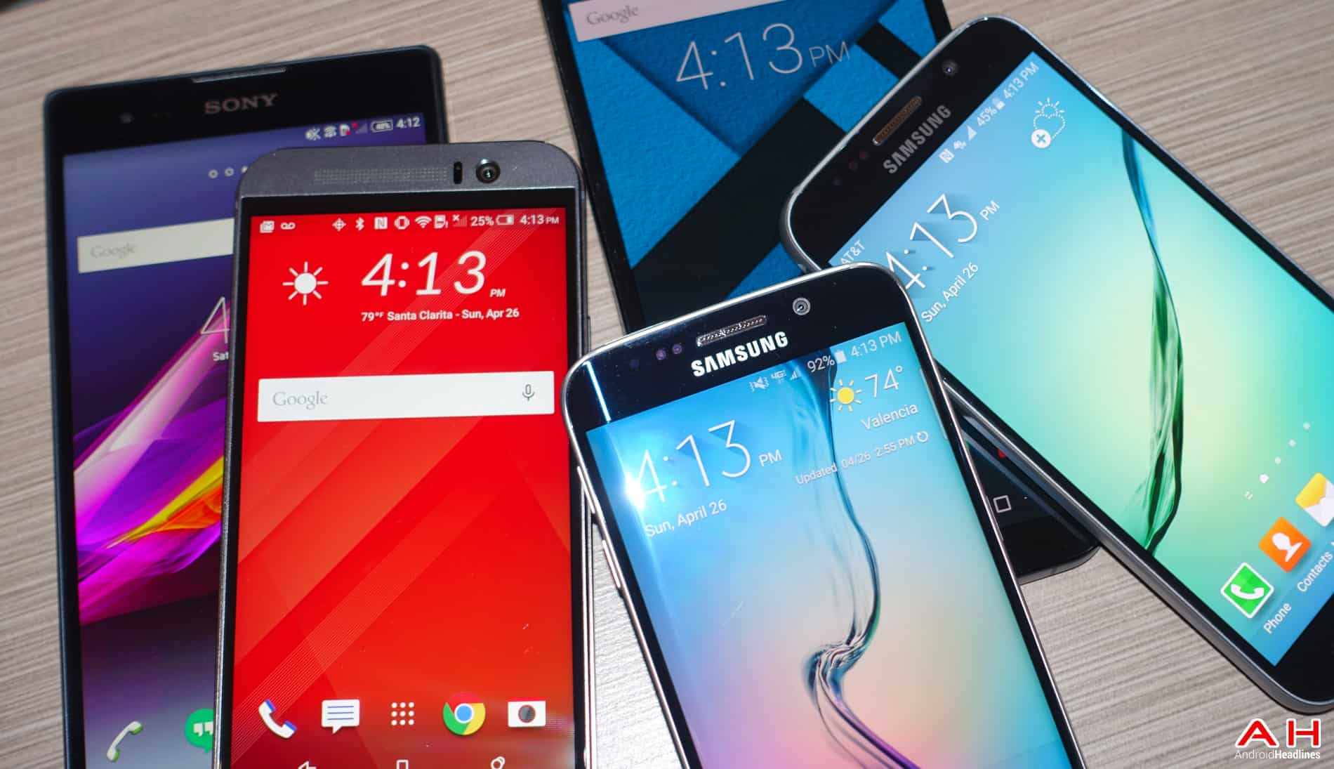 AH Android Samrtphones Nexus Samsung Galaxy S6 HTC One M9 Sony OEM logos-9