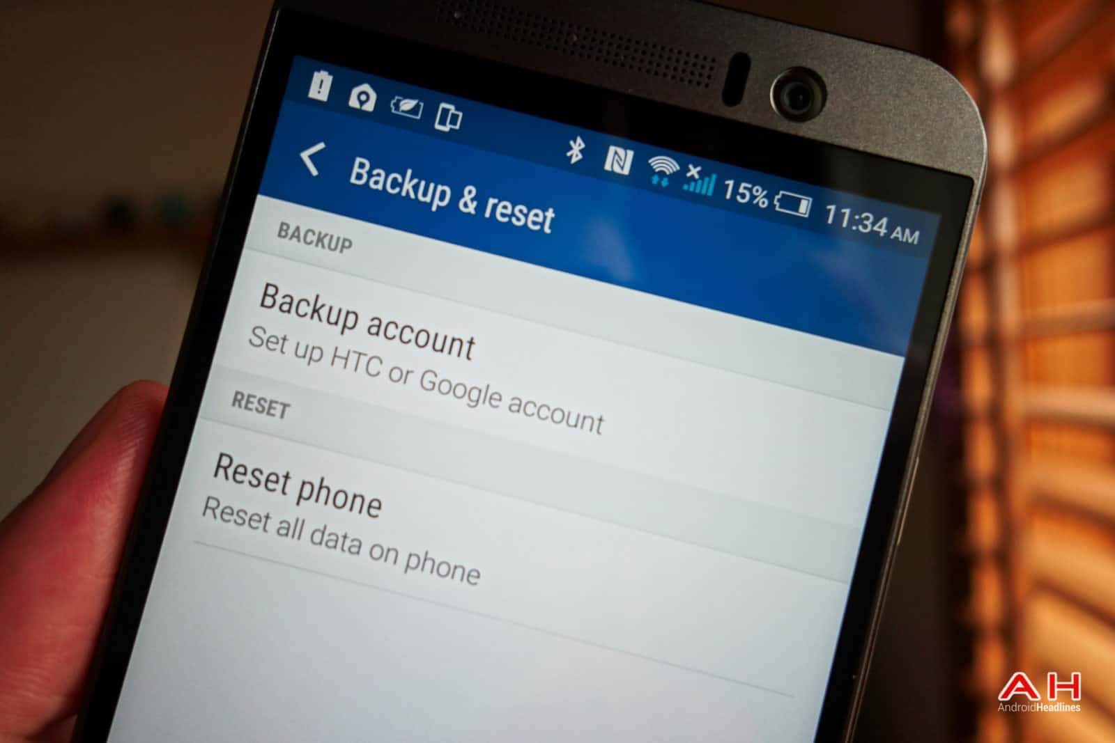 Android How To: Perform A Factory Reset On The Htc One M9 Androidheadlines  To Clear The Browser Cache3