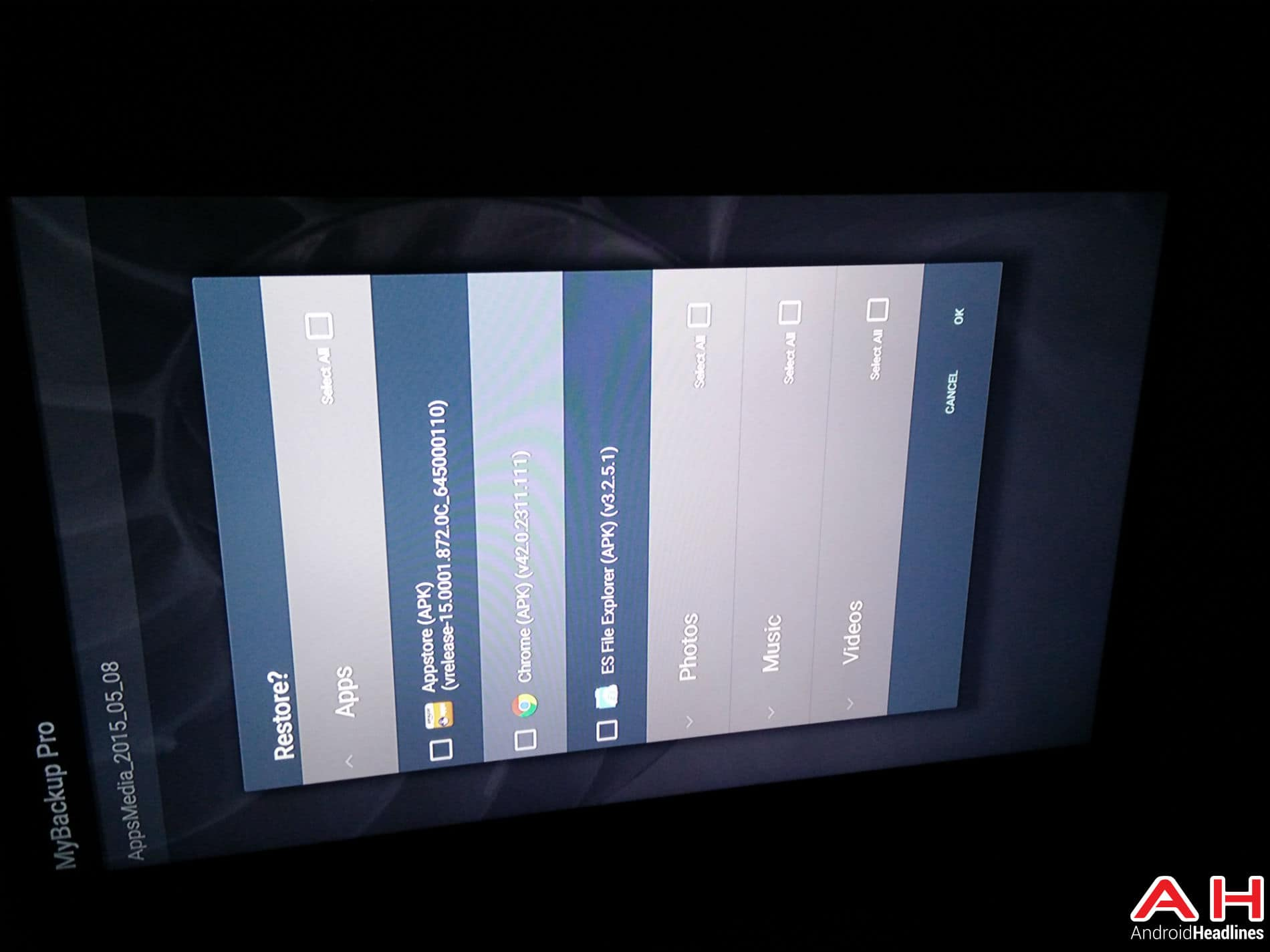 Android TV My Backup 7